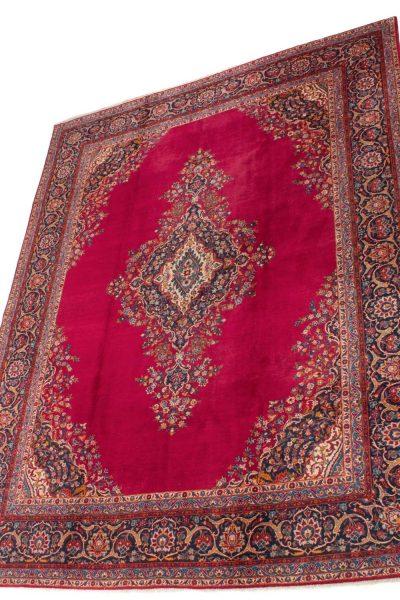 perzisch tapijt kashan 7683 rood handgeknoopt wol 2