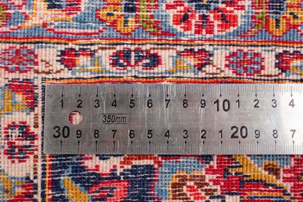 perzisch tapijt keshan 5866 wol rood knoopdichtheid 17