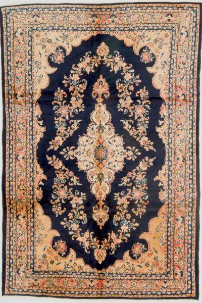 perzisch tapijt nahawand 7117 handgeknoopt marinebluw 19