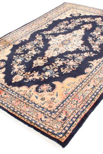 perzisch tapijt nahawand 7117 handgeknoopt marinebluw 4