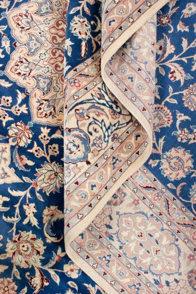 perzisch tapijt nain 7179 beige blauw16