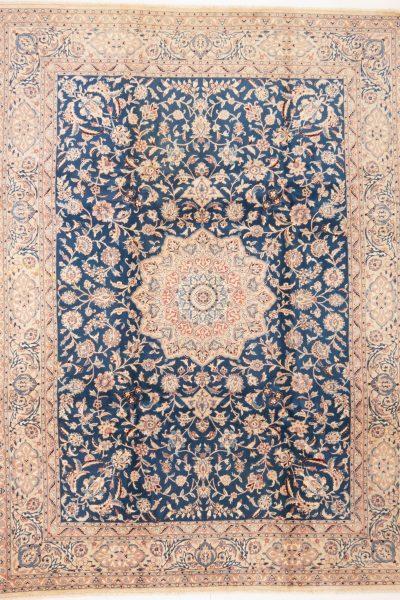 perzisch tapijt nain 7179 beige blauw18