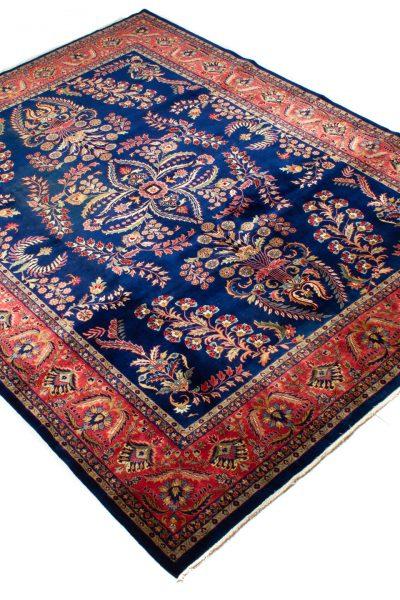perzisch tapijt sarough 7900 blauw rood handgeknoopt2