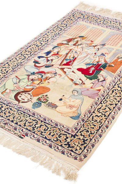 Isfahan tapijt getekend 106x175 cm2