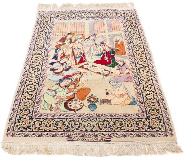 Isfahan tapijt getekend 106x175 cm3