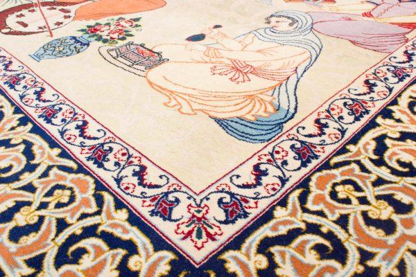 Isfahan tapijt getekend 106x175 cm6