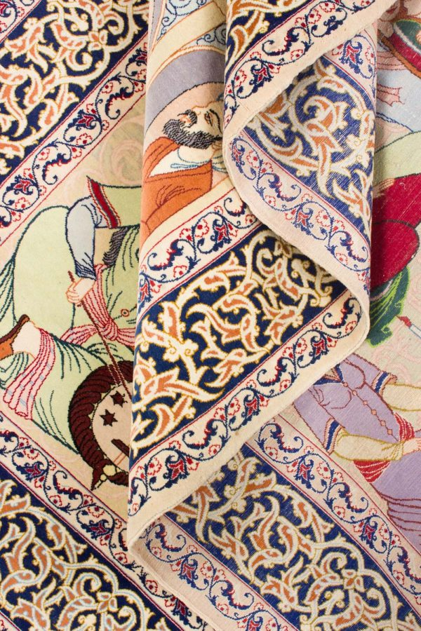 Isfahan tapijt getekend 106x175 cm7