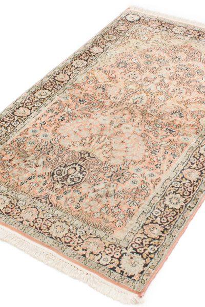 Vintage handgeknoopt tapijt zijde 94x157 cm2