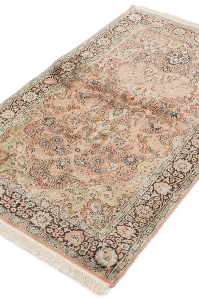 Vintage handgeknoopt tapijt zijde 94x157 cm3