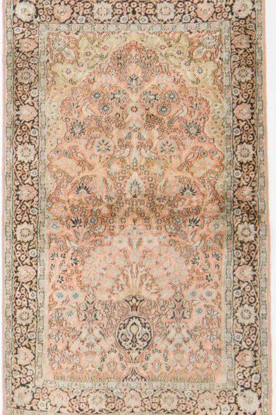 Vintage handgeknoopt tapijt zijde 94x157 cm5