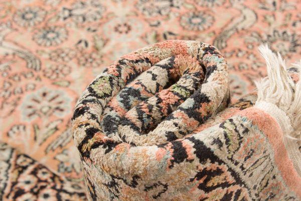 Vintage handgeknoopt tapijt zijde 94x157 cm6