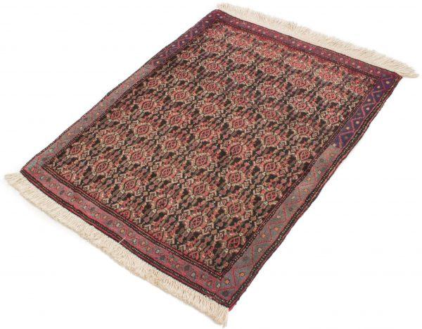 Vintage handgeknoopte Perzisch tapijt Senneh 74x98 cm 1