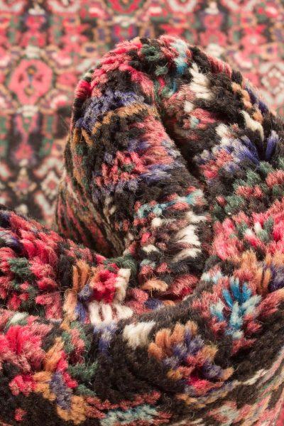 Vintage handgeknoopte Perzisch tapijt Senneh 74x98 cm 8