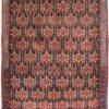 Vintage handgeknoopte Perzisch tapijt Senneh 74x98 cm 9